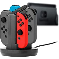 Snakebyte Snakebyte NSW Joycon's Four Charger - Charging Station for Use with Nintendo Switch Joy-Con - Nintendo Switch;