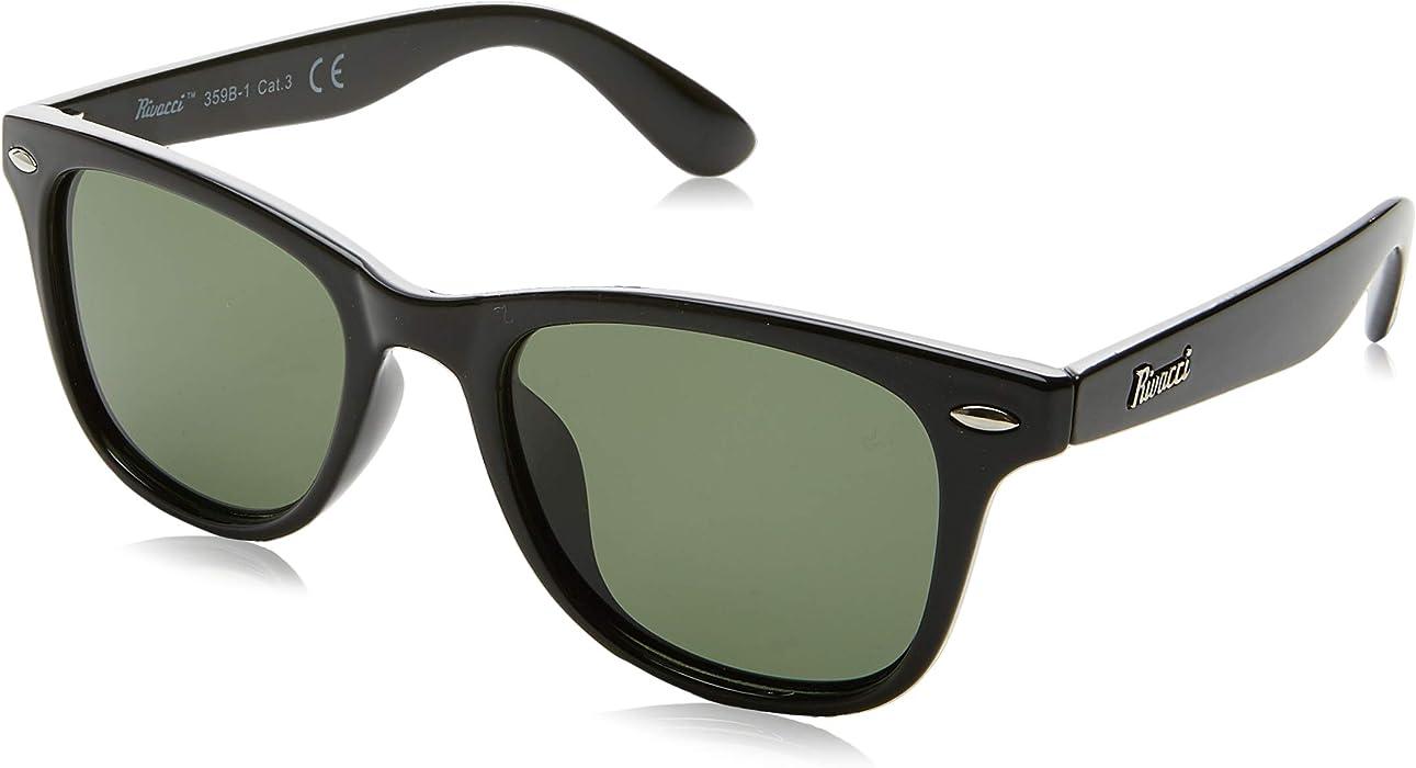 5bcf9f7be0f9 Rivacci Classic Polarised Sunglasses for Mens and Womens - Retro Vintage  Anti Glare Driving Glasses UV