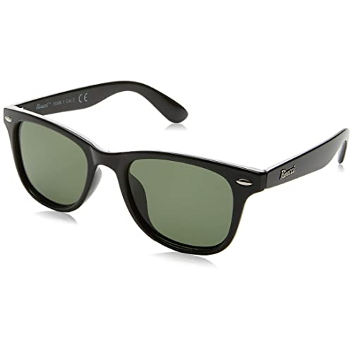 Rivacci Gafas de Sol Polarizadas Hombre Mujer – Marca Retro/Vintage – Lentes Deportivas – Negras / G15 (Verde/Gris) Polarizado