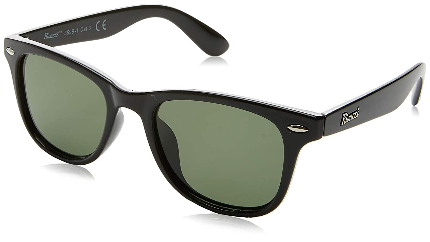 9171ba337af Rivacci VINTAGE Mens   Womens POLARIZED Wayfarer Sunglasses - Best TAC  DRIVING GLASSES - RETRO Shades for Men   Women - Black Green Grey Lens at  Amazon ...
