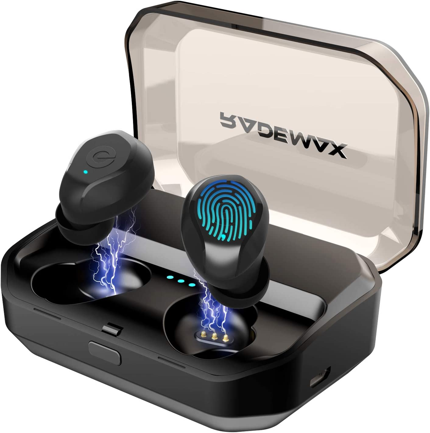 [Upgrade] True Wireless Earbuds,Bluetooth Earphones Bluetooth 5.0 Earbuds IPX7 Waterproof Headphones Auto Pairing in-Ear Stereo 90H Cycle Play Time Wireless Headset with 3350mAh Charging Case