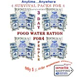 Survival Pack 3 Day Food and Water for 4 People 5year Shelf Life