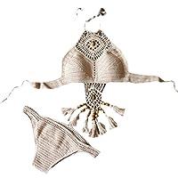 Luoluoluo Donna Bikini Push-Up Sexy Costumi Da Bagno Spiaggia Beachwear Reggiseno Imbottito Benda Bikini Due Pezzi