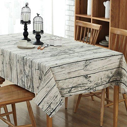 YJBear Cotton Linen Vintage Wood Grain Print Washable Square