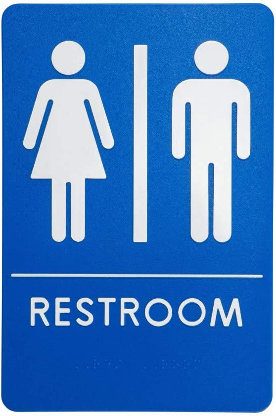 Unisex Restroom Sign, ADA-Compliant Bathroom Door Signs for Offices, Businesses, and Restaurants | Made in USA (1)