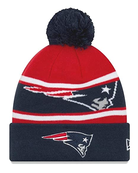 Image Unavailable. Image not available for. Color  New Era New England Patriots  Youth NFL Junior Callout Cuffed Knit Hat with Pom 377650fc7