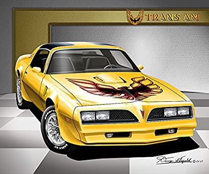 Amazon Trans - com Am Yellow-art Sundance 1977-1978 Firebird