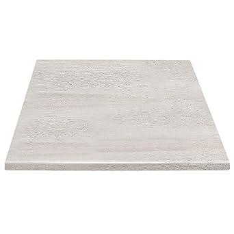 Chiner - Tablero de mesa cuadrado 60 x 60 cm. Blanco roto: Amazon ...