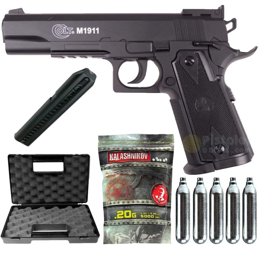Airsoft Pack Colt 1911 Match Co2-Cybergun 180306- Semi Automatik (0 ...