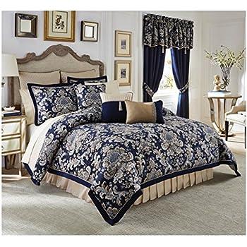 Amazon.com: Croscill Imperial Blue 4-Piece King Comforter