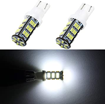 2 x Replacement T10 W5W QUAD LED 12v ICE White Bulbs