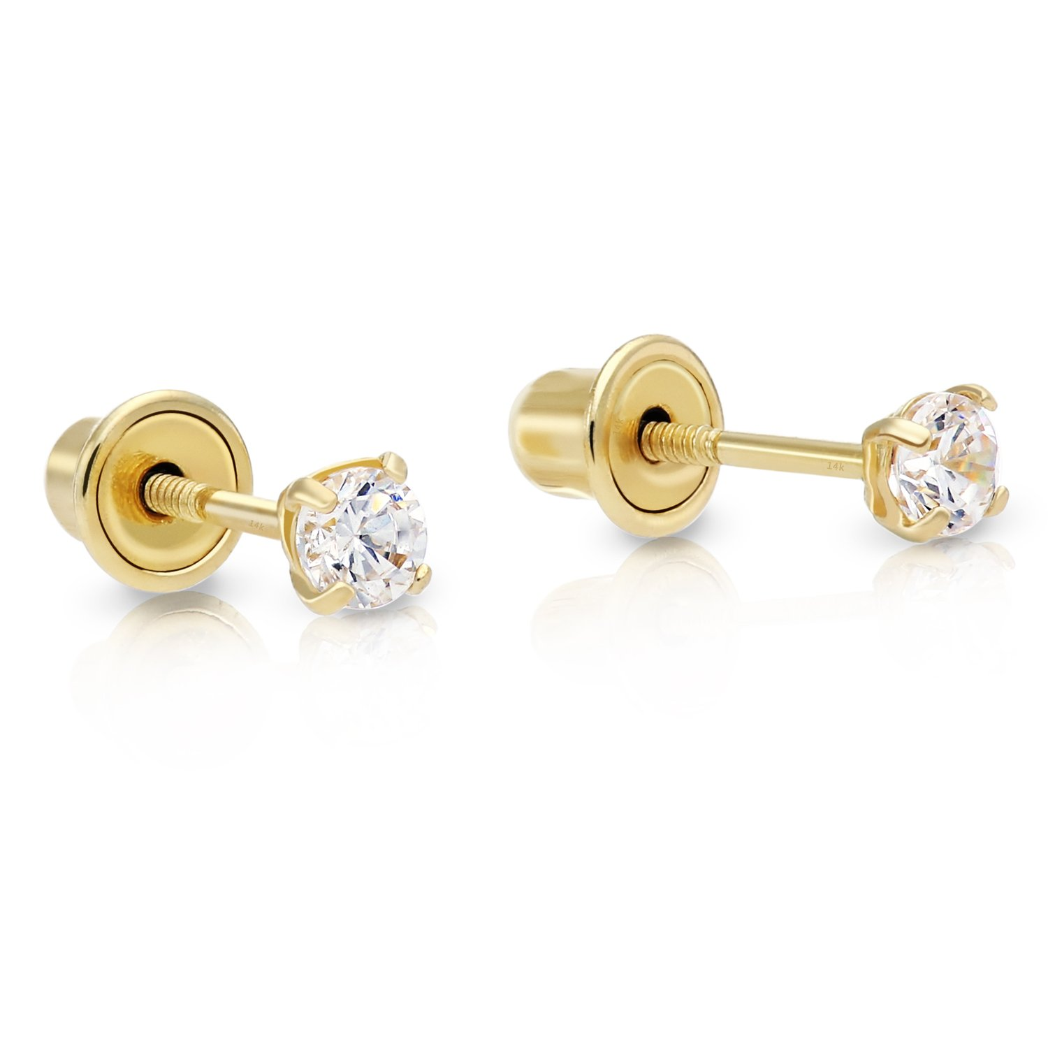 lyst w metallic sterling earrings bernini tw cubic s gold zirconia ct in jewelry t over stud women giani silver