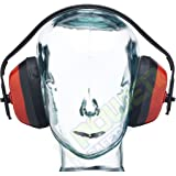 Baratec Red Lightweight Adjustable Ear defenders Ear Muffs - SNR 27 db