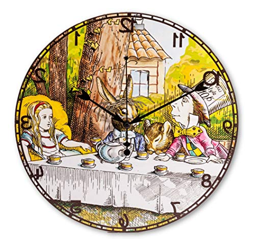 ASVP Shop Alice in Wonderland Backwards Hanging Wall Clock