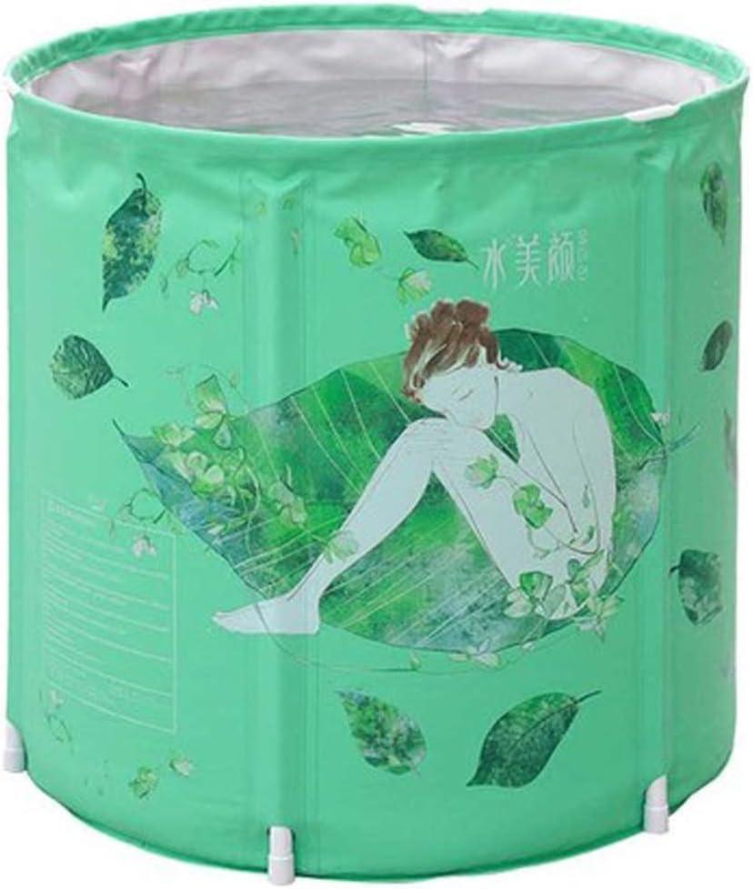 Folding Bathtub NAUY@ Bañera Plegable del hogar del PVC Verde de Eco para el Uso Interior/al Aire Libre Accesorios de baño (Tamaño : Small)