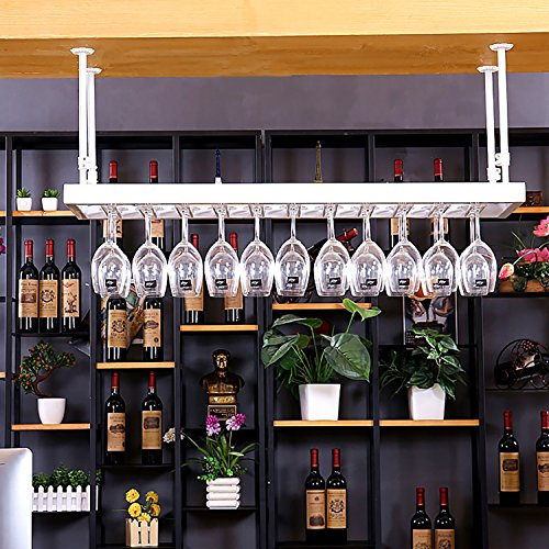 (Jia He Wine Racks Wrought Iron Suspension Telescopic Arm Easy to Install Rugged Carrying Capacity Durable Oxidation Resistance Suitable for Many @@ (Size : 6035cm))