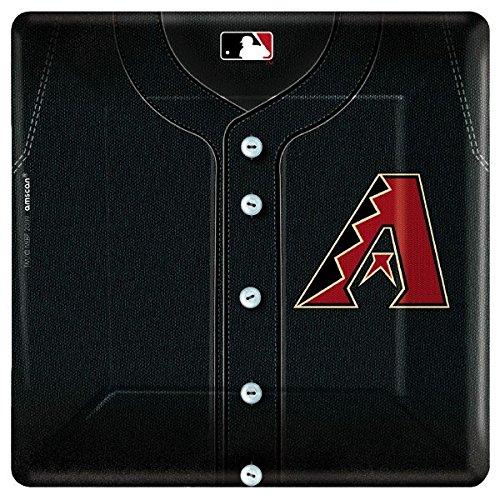 amscan Baseball Dream Arizona Diamondbacks Party Dinner Plates, Black, 10.4 x 10.4