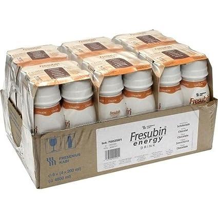 Fresenius Kabi Fresubin Energy Drink Chocolate Drink bottle, 6 x 4 x 200 ml,