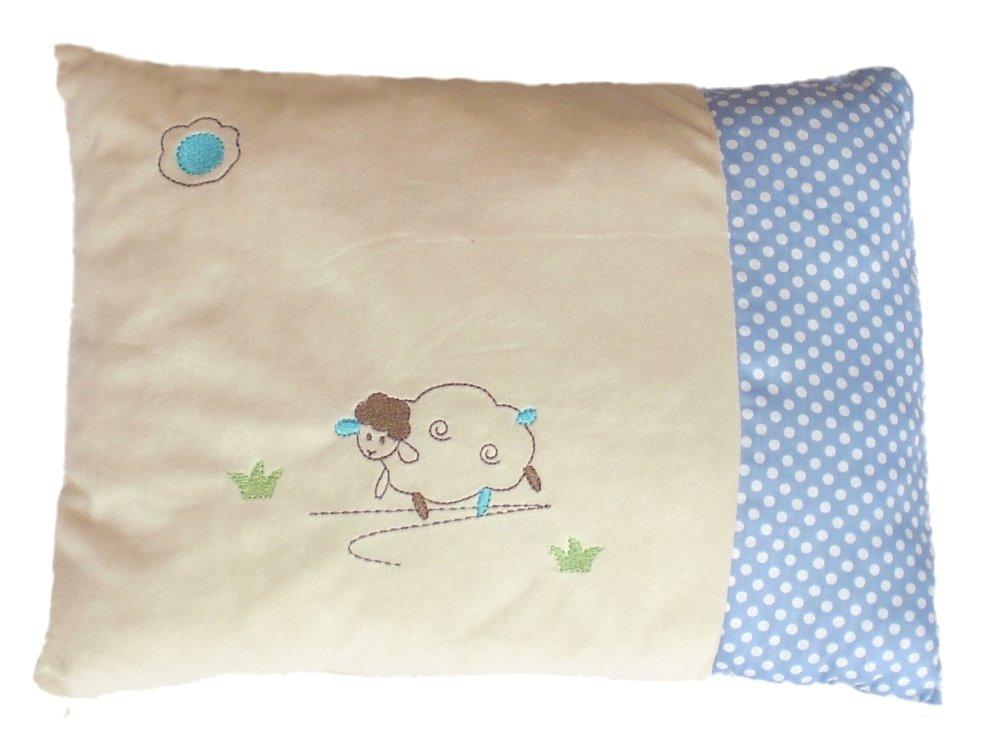 Inwolino 7988 - Schmusekissen Schaf Sweety, creme/blau, 25 x 36 cm, Kuschelkissen