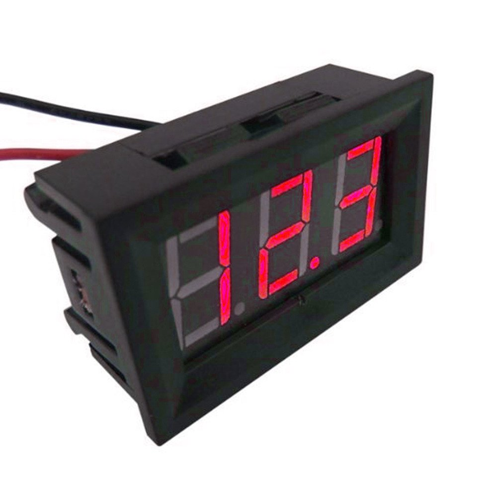 Etopars DC 4.5V-30V Red LED Light Digital Display Voltage Volt Panel Gauge 2 Wire