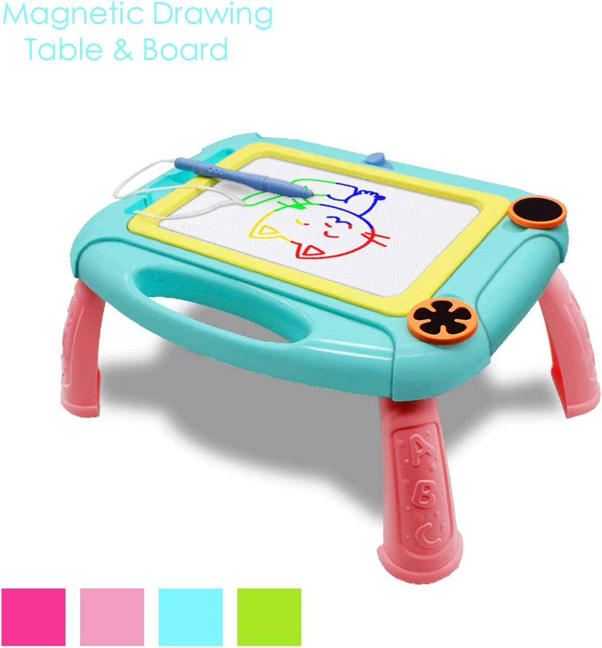 Hongkit Gift for 1 2 3 4 5 Years Old Girls,LCD Writing Tablet for Kids Memo Doodle Board e-Writers Writing Toy for Boys 1-5 Years Old Birthday Present LCD Drawing Pad Blue Pig TENOL