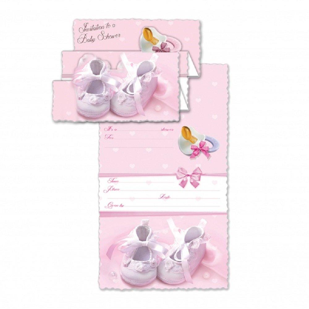 BABY SHOWER INVITATION GIRL ENGLISH W/ENVELOPE 100/PKG