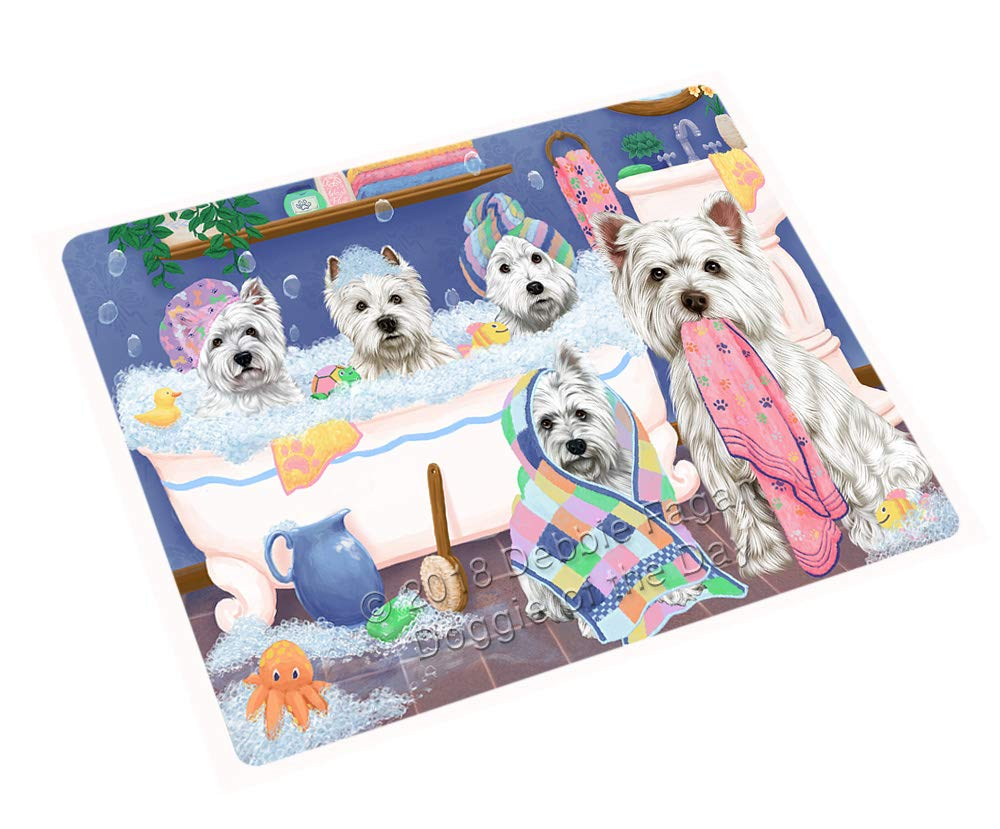 Doggie of the Day Rub A Dub Dogs in A Tub West Highland Terriers Dog Blanket BLNKT130926 (50x60 Plush)
