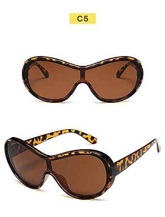 Wang-RX Gafas de sol Hombre Moda Marco grande Deportes ...
