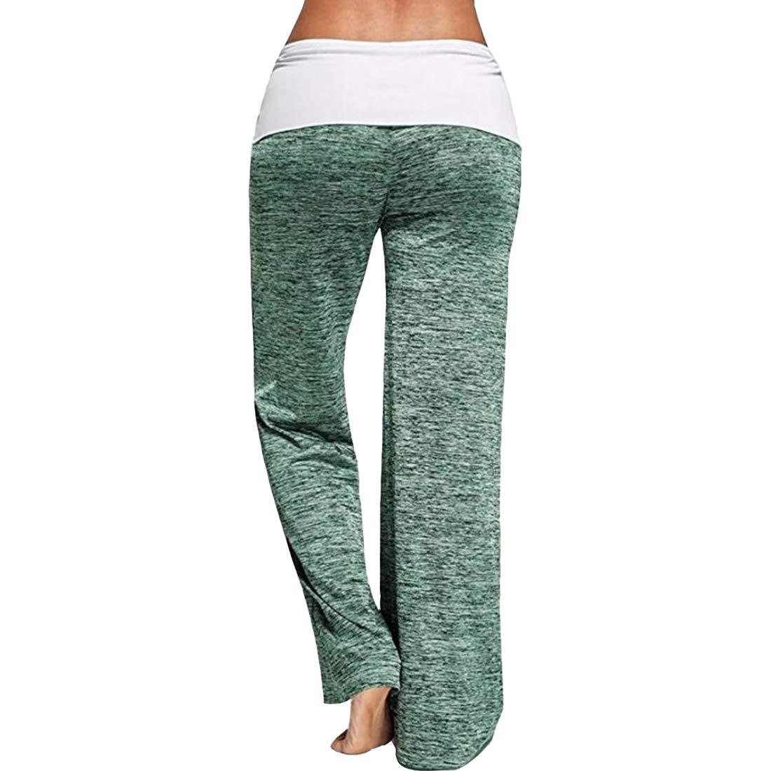 Sidiou Group Pantaloni da Yoga da Donna Pantaloni da Gamba Larghi Pantaloni da Ballo Pantaloni Sportivi da Palestra Pantaloni da Allenamento Casual