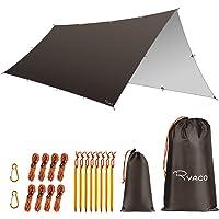 RYACO Hangmat Regen Fly Tent Tarp, 3 x 5 m Dekzeil Draagbare Zonnescherm Lichtgewicht Waterdicht Grondzeil Winddicht…