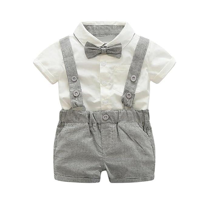 Amazon.com: singleluci bebé niños verano manga corta para ...
