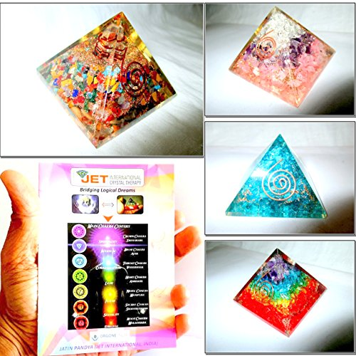 - Jet Exquisite Four (4) Mix Orgone RCA Feroza Rainbow Chakra Pyramid 1 each Best Offer Free Booklet Jet International Crystal Therapy Crystal Gemstones Copper Metal UPS EXPEDITED SHIPPING