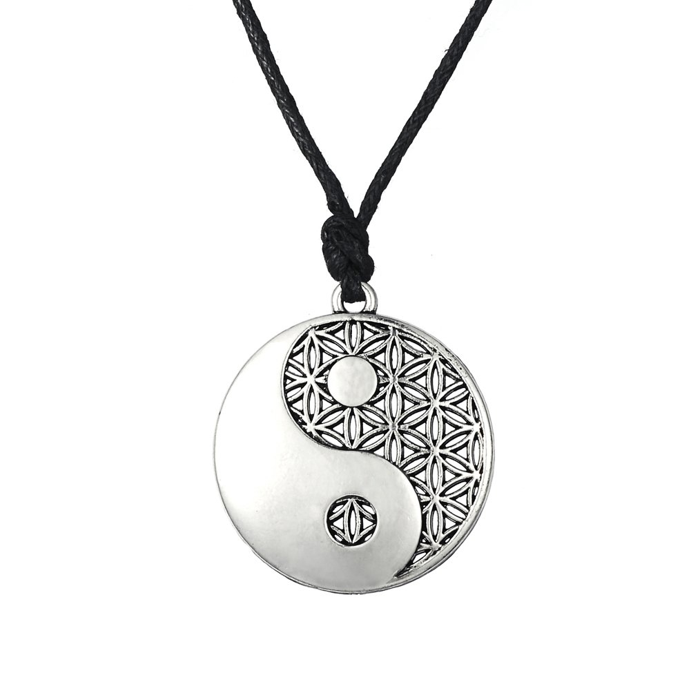 Wicca amult Religiö se taolist Ying Yang Symbol Balance of Life Anhä nger Halskette GeXiang