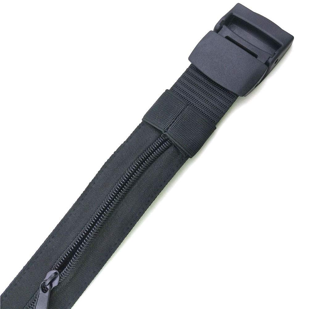 Color Negro Antideslizante Cintur/ón antirrobo para Dinero en Efectivo Asdomo con Cremallera