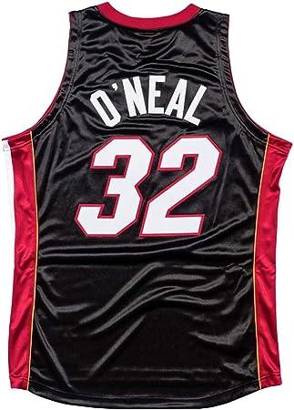 FMSports Camisetas De Baloncesto Retro para Hombre - NBA Heat # 34 Shaquille Oneal Uniforme De Baloncesto Camiseta De Chaleco Clásico De Tela Transpirable Fresca,XL~180CM/85~95: Amazon.es: Hogar