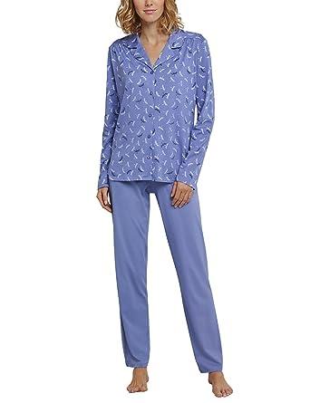 50026ea136 Schiesser Damen Zweiteiliger Schlafanzug Pyjama Lang: Amazon.de ...