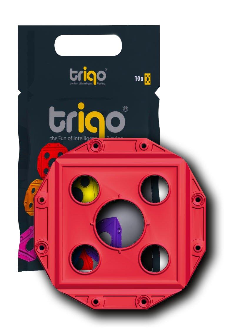 Triqo - 377070 - Square Booster - Rouge - Pack De 10