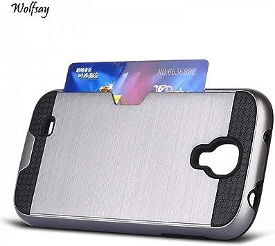 Wolfsay Spigen Funda Funda para Samsung Galaxy S4 Funda Suave Slim Rubber + PC para Samsung Galaxy S4 Funda para Samsung S4 i9500 Ranura para Tarjeta <: Amazon.es: Electrónica