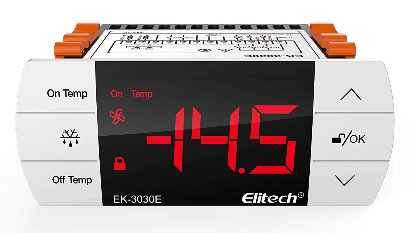 Elitech EK-3030E Temperature Controller Thermostat with Sensor for USA Canada 110V