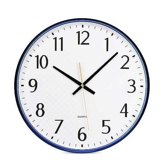Beauty Brand Reloj De Pared Silent Round Operado con Pilas ...