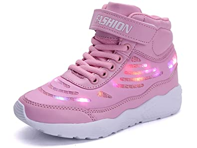 big sale ff1b1 2fd00 GJRRX LED Schuhe Kinder Leuchtschuhe mit Fernbedienung USB ...