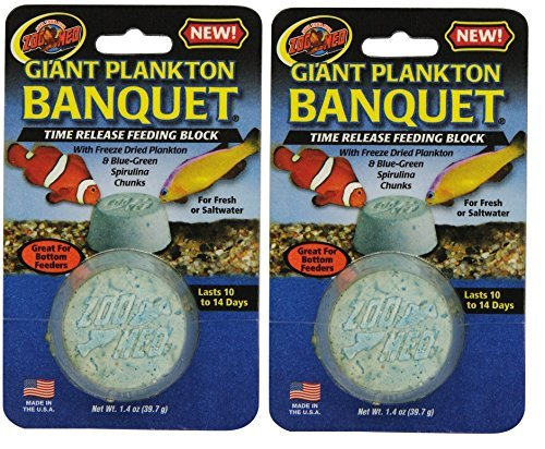 Zoo Med Laboratories AZMBB6 Plankton Banquet Block Feeder Giant, 2 Count