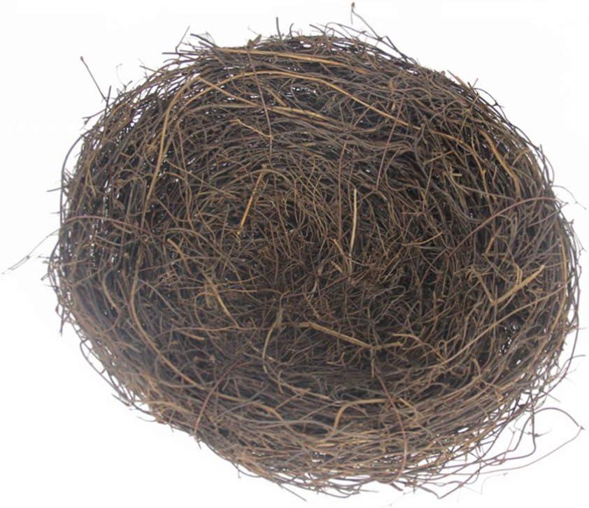 Amosfun Nido de Pájaro Hecho a Mano Nido Artificial Nido de Pájaro de Pascua Nido Adornos Decorativos de Nido de Pájaro para La Decoración del Jardín del Hogar 20 Cm
