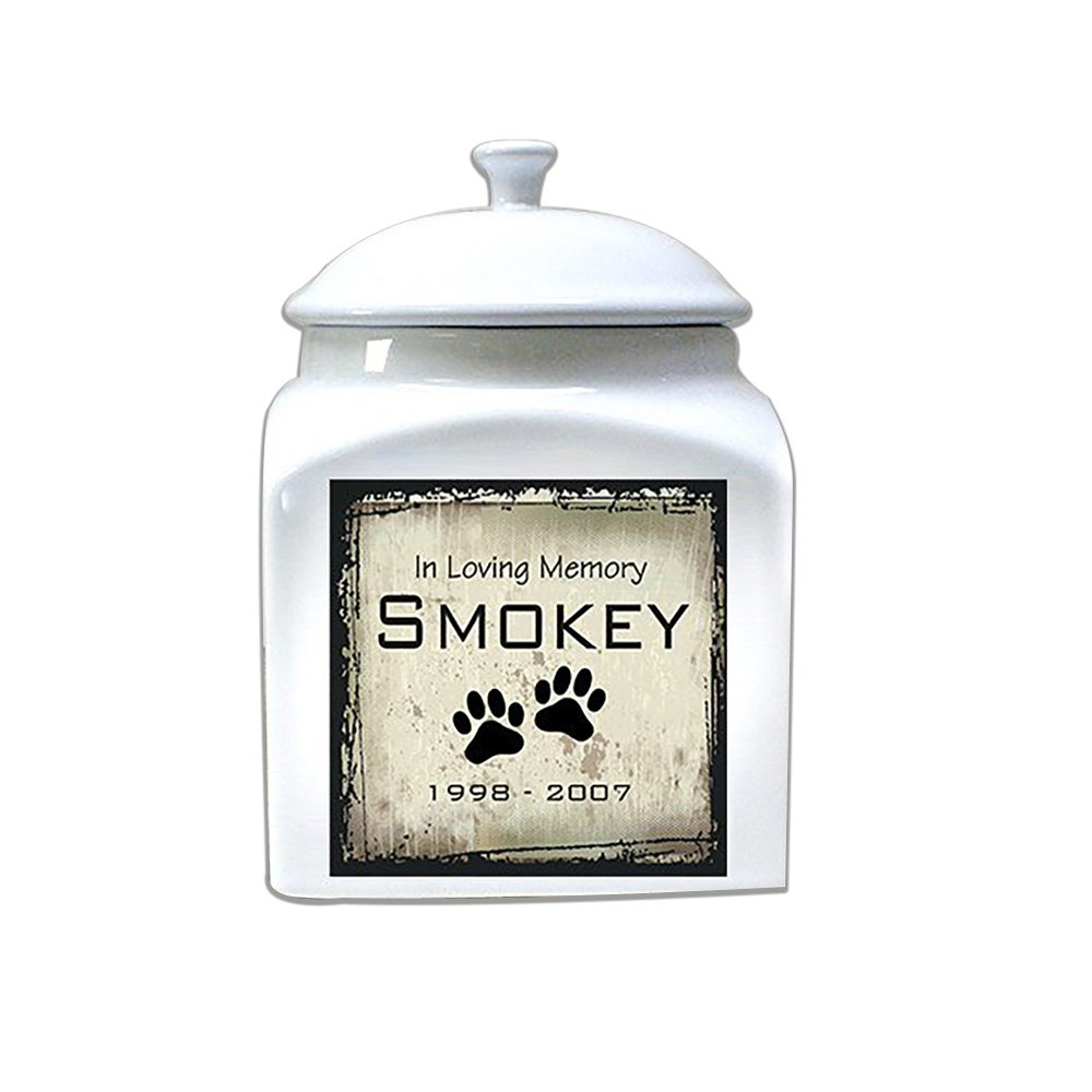 GiftsForYouNow Ceramic Personalized Pet Urn, for Pets up to 100 Lbs. by GiftsForYouNow