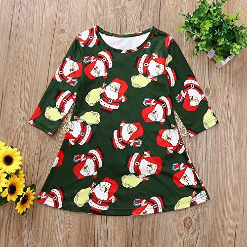GoodLock Clearance!! Baby Boys Girls Christmas Dress Toddler Kids Long Sleeve Cartoon Print Dress Clothes (Green, 18 Months) by GoodLock (Image #3)