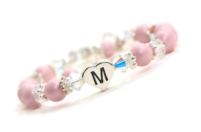 028d0d2d9 Amazon.com: Baby Bracelet Heart Bracelet Personalized Baby Bracelet Initial  Bracelet Baby Jewelry Baby Gifts Newborn Baby Gift Baby Shower Gift:  Handmade