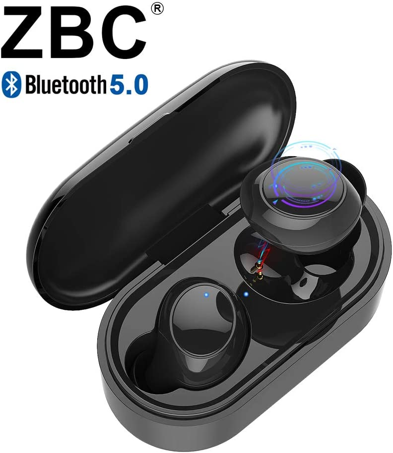 Wireless Earbuds Bluetooth Earphones V5.0 Headphones Headsets in-Ear TWS Auto-Pair Airpods Mic Charging Case Sport Running Mini True Stereo Sound High Definition Compatible iOS Android Samsung