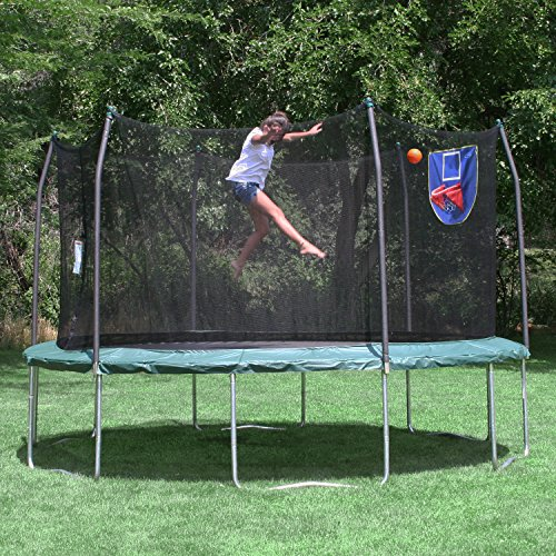 Skywalker Trampolines Basketball Hoop And Ball Trampoline