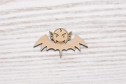 Juego de 10 murciélagos de madera de Monster Dracula con corte láser decoración sin pintar (EW0420), 10 cm: Amazon.es: Hogar
