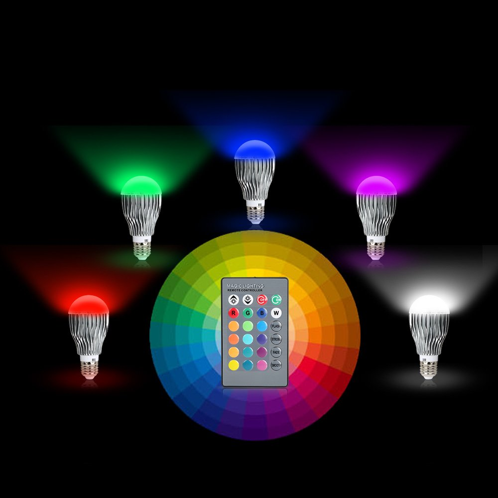 Amazon.com: GPCT LED 9W Color Changing Bulb with 64 Levels of ...